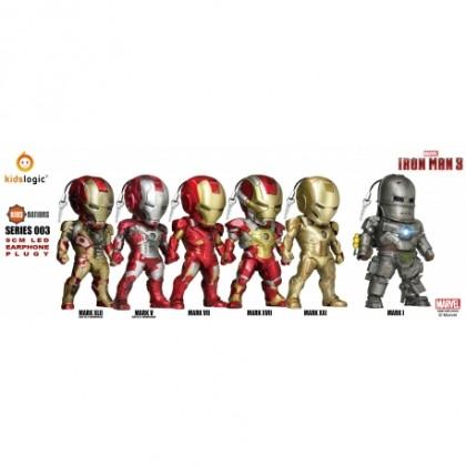 Beast Kingdom Kids Nations LED EarPhone Plug Series 003 Iron Man 3 [Box of 6]