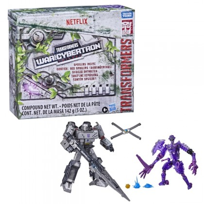Transformers War for Cybertron Trilogy Megatron And Translucent Paleotrex Netflix Edition