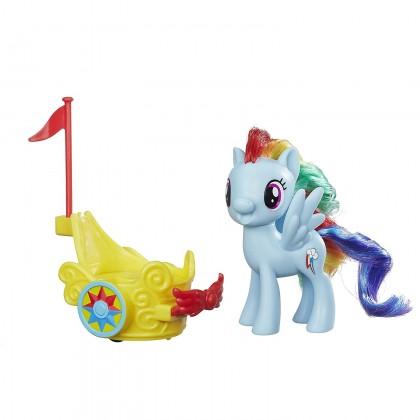 Hasbro My Little Pony Rainbow Dash Royal Spin-Along Chariot